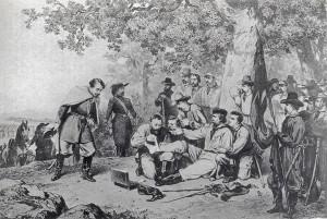 Garibaldi ferito in Aspromonte