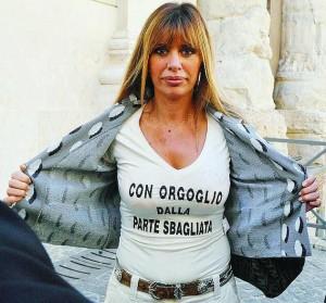 alessandra-mussolini_maglia_LaStampa