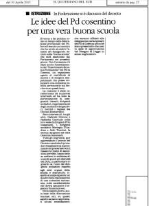 Il Quotidiano del 10 aprile 2015