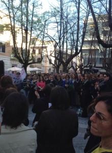 manifestazione contro DDL scuola a Cosenza