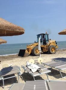 Ruspe sulla spiaggia di Corigliano
