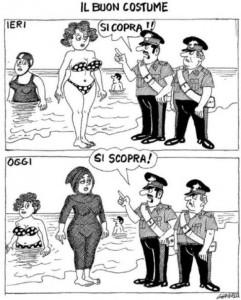 Burkini vignetta Giannelli