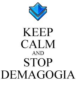 Calma e basta con la demagogia