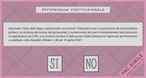 Scheda del referendum