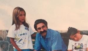 Giampaolo Fragale e le due figlie