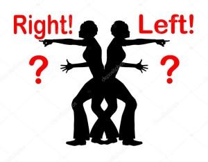 Identificazione destra sinistra