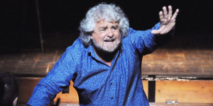 Beppe Grillo Performs In 'Grillo Vs Grillo' In Livorno