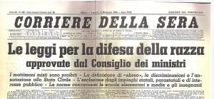Corriere della sera del 1938