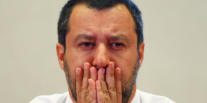 Italy's Interior Minister Salvini attends a news conference at the Viminale in Rome