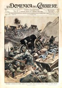 La Brigata Catanzaro in una delle celebri copertine della Domenica del Corriere