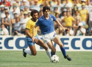 Paolo Rossi in Italia-Brasile del 1982