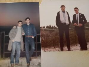 Foto con Antonio Tiberi da ragazzi ai tempi del liceo