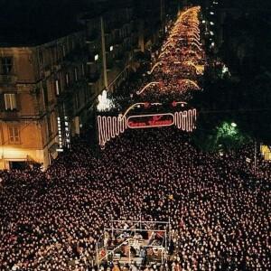 Concerto di Franco Battiato a Cosenza per il Capodanno del 2000